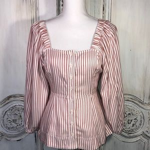 Cabi Cottage Core Inspired Puff  Sleeve Blouse